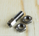 TPW TITANIUM STOP DISK BOLT AND NUTS FOR BROMPTON IN BLACK