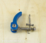 Ti Parts Workshop Rear Frame Clip & Quick Release in Blue Alu & Ti