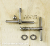 TI PARTS WORKSHOP TITANIUM BALANCED HINGE CLAMP SET IN RAW TITANIUM