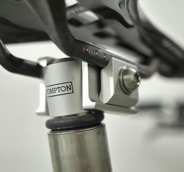 Ti Parts Workshop Carbon Rail Saddle Adaptor in Silver