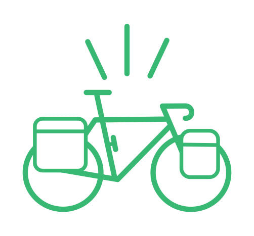 Touring Bike Graphic for Curbside Cycle Sales Consultation
