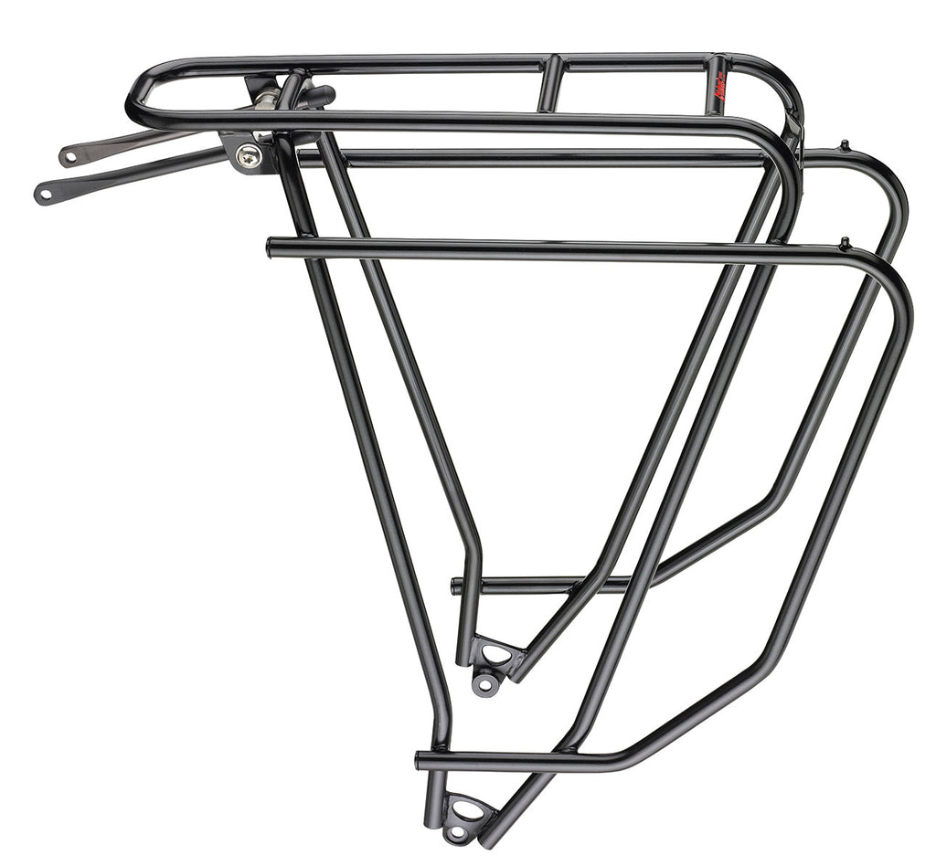 Tubus Logo Evo Rear Rack In Black - Strong Cromoly Steel Rack For Cycling