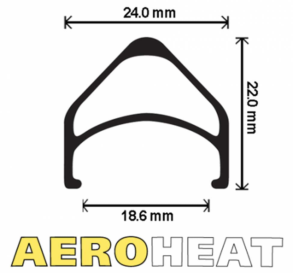 VELOCITY AEROHEAT RIM CROSS SECTION