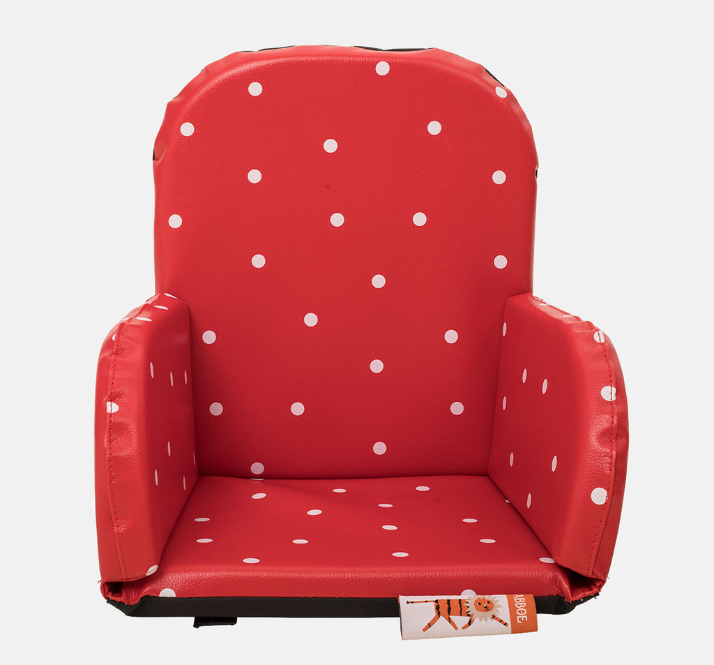 Babboe Comfy Child Seat For All Cargo Bikes - Red w/ Dots