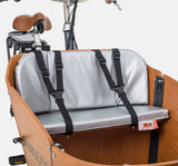 Babboe Cargo Bike Seat Cushion On Bench - Silver