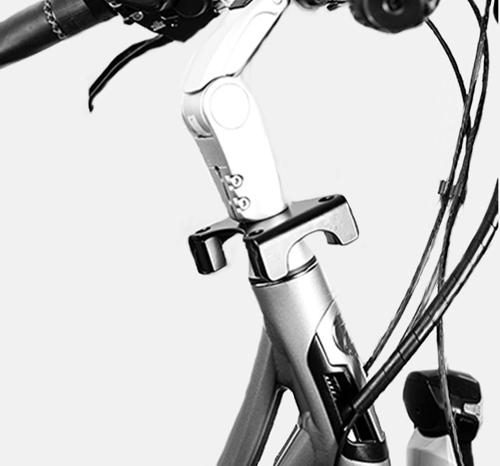Bobike A-Head Tube Bracket Adaptor - Mounted on Bike