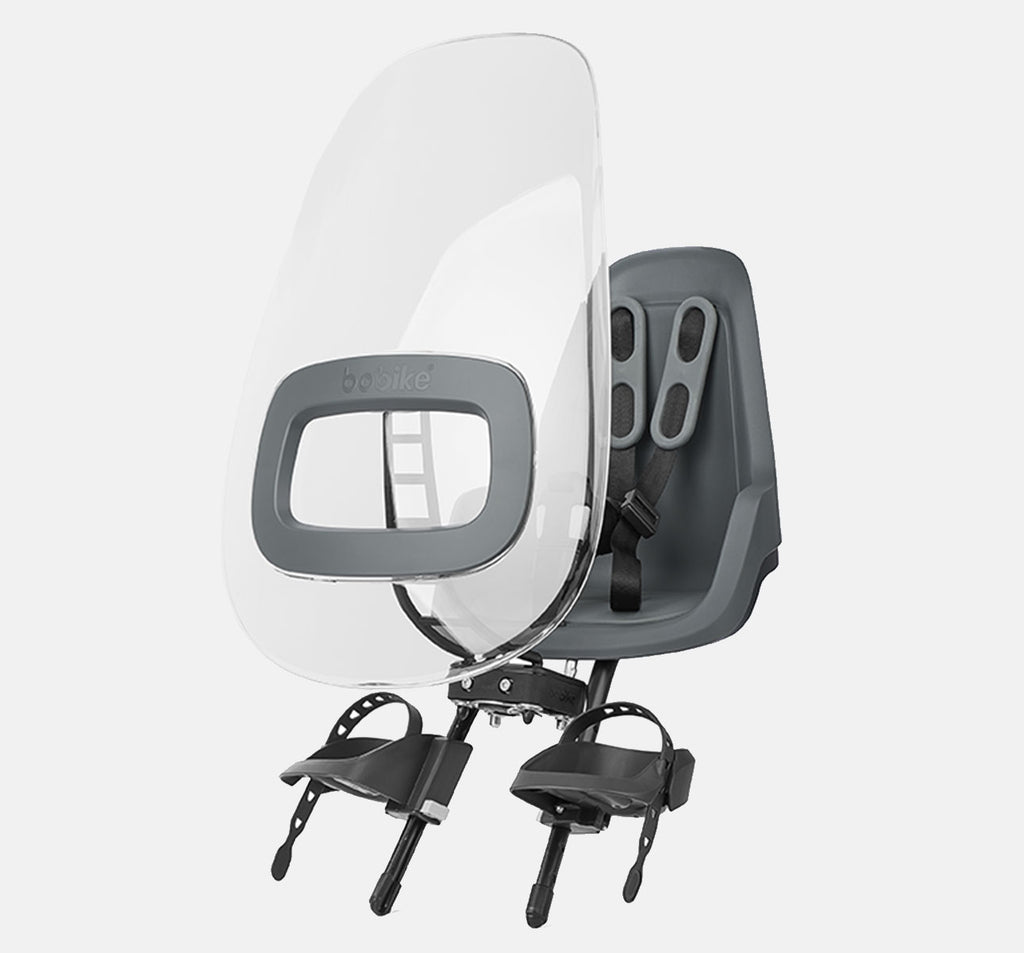 Bobike ONE+ Windscreen Mounted on ONE Mini Baby Seat (Urban Grey)