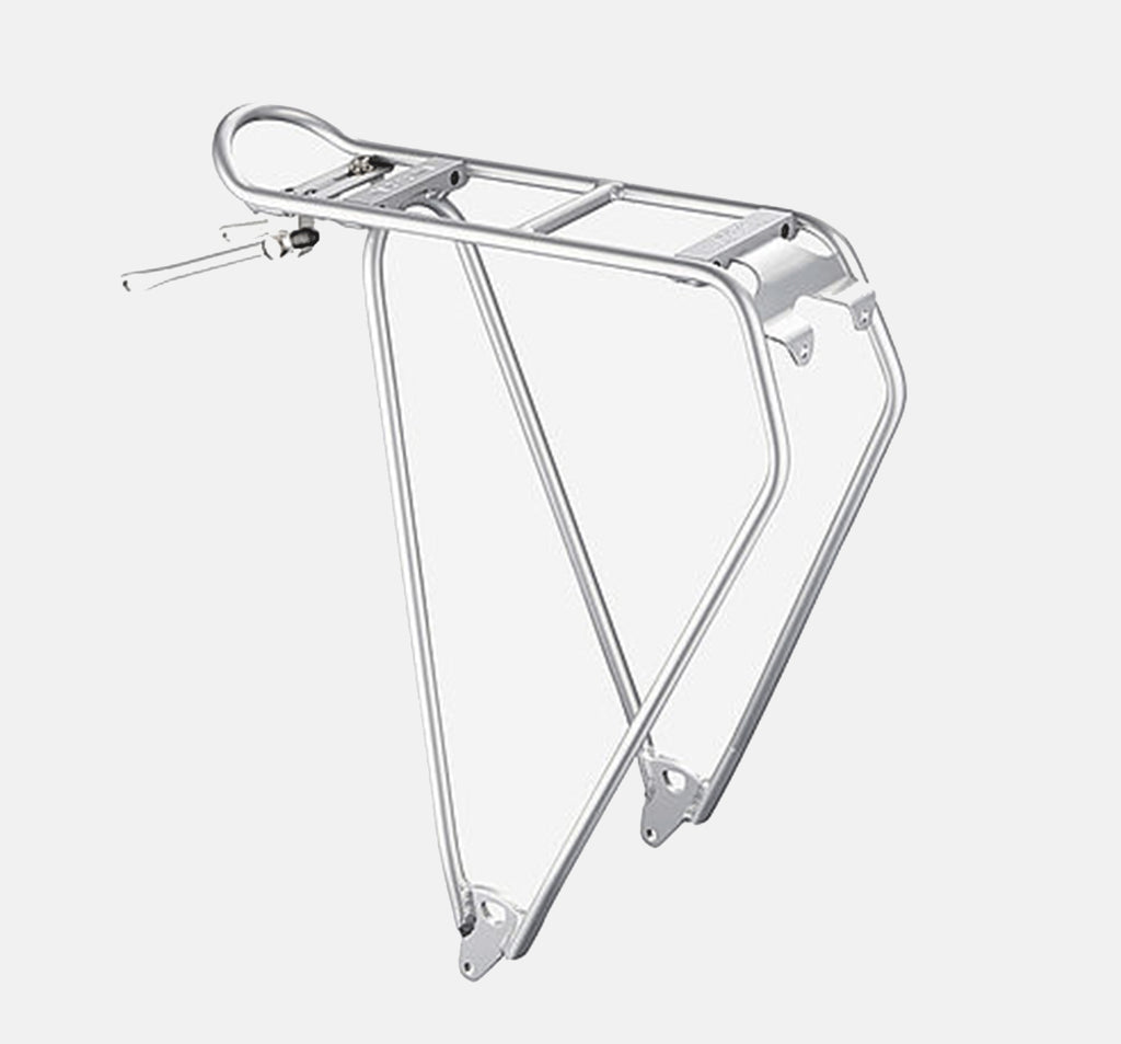 "Racktime Lightit 28"" Rear Bike Rack In Silver - Aluminum"