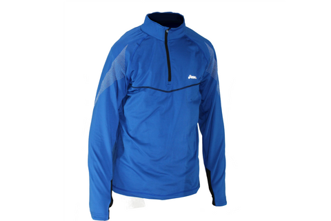 Asics Mens Quarter Zip Running Pullover - Blue - Medium Only