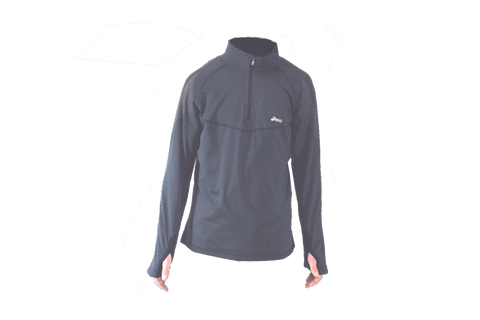 Asics Mens Quarter Zip Running Pullover - Stone Gray