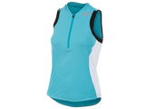 Pearl Izumi Select Triathlon Sleeveless Jersey - Womens - Scuba Blue and White