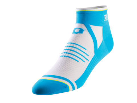 Pearl Izumi Elite Sock - Mens - White with Electric Blue