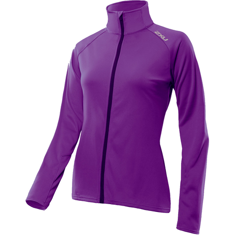 2XU Womens Thermo Full Zip jacket/Jersey - Purple Orchid