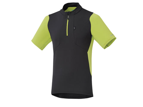 Shimano Touring Jersey - Mens - Black and Yellow