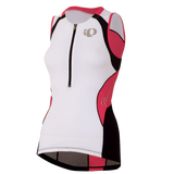 Pearl Izumi Elite In-R-Cool Tri Support Singlet- Womens - White/Paradise Pink