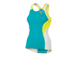 Pearl Izumi Elite In-R-Cool Tri Support Singlet- Womens - Scuba Blue & Yellow