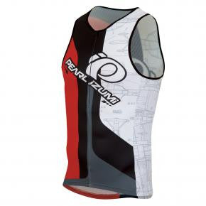 Pearl Izumi Elite In-R-Cool Tri Support Singlet- Mens - Team Pearl Red Design - Med Only
