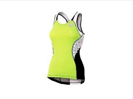 Pearl Izumi Elite In-R-Cool Tri Support Singlet- Womens - Lime and White