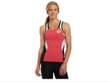 Pearl Izumi Elite In-R-Cool Tri Support Singlet- Womens - Paradise Pink with White