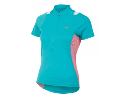 Pearl Izumi Select Short Sleeve Jersey - Womens - Scuba Bue with Pink Pattern