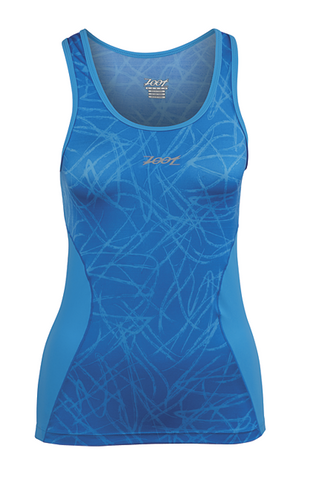 Zoot Women's Performance Tri BYOB Tank - Mali Blue Static - S, L only