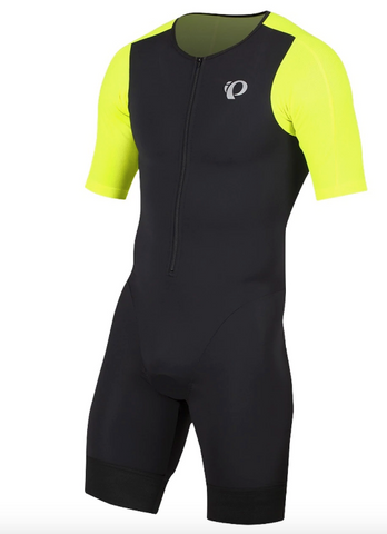 Pearl Izumi Mens Elite Pursuit Tri Suit - Optic Yellow/Blk