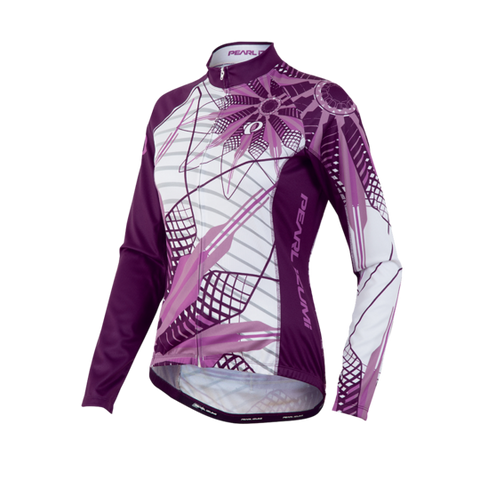 Pearl Izumi Womens Elite LTD Thermal Cycling Jersey - Purple Floral