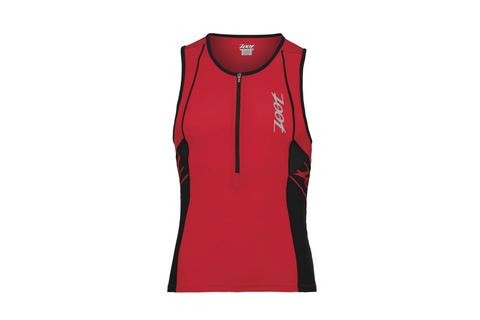 Zoot Mens Performance Tri Tank - Red and Black