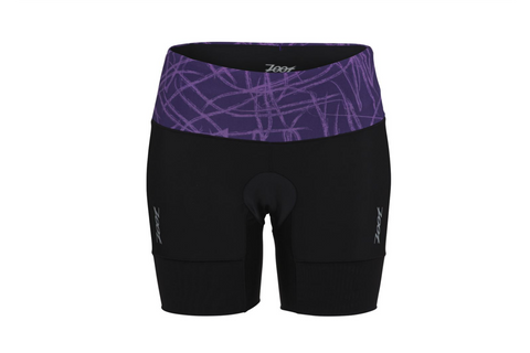 "Zoot Womens Performance Tri 6"" Short - Purple Haze Static (Small only)"