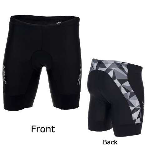 "Zoot Mens Performance Tri 9"" Short - Black Camo - XL, S only"