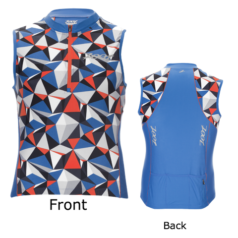 Zoot Mens Performance Tri Sleeveless Jersey - Blue Camo (Small only)