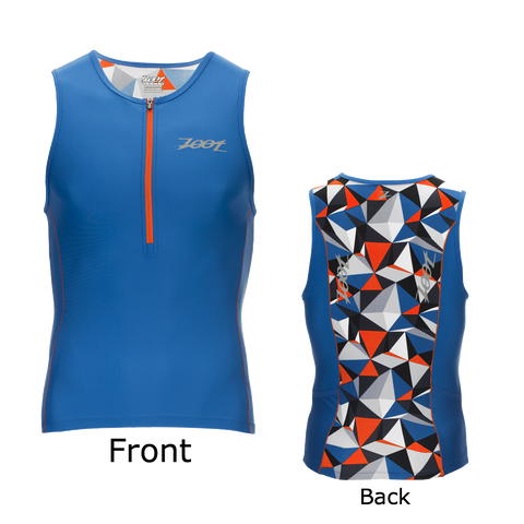 Zoot Mens Performance Tri Tank - Vivid Blue and Camo