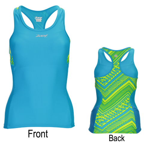 Zoot Womens Performance Triathlon Racerback Top - Tribal
