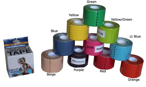 "Kinesiology Tape - 2"" W  (25 cm)- 16 foot roll (5M)"