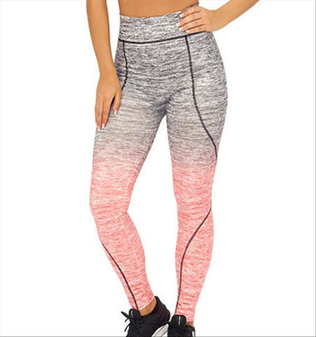 UW Dip Dye Full Length Seamless Tights  - Black and Coral (L/XL only)