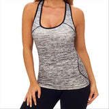UW Dip Dye Seamless Racerback Tank  - Black and Gray