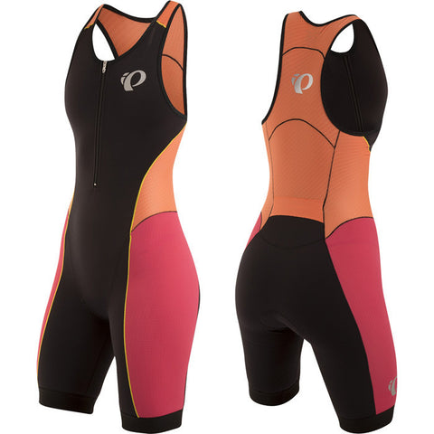 Pearl Izumi Womens Elite Pursuit Tri Suit - Black/Clementine