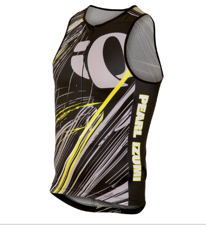 Pearl Izumi Elite In-R-Cool Tri Support Singlet- Mens - Team Pearl Design - Lg Only