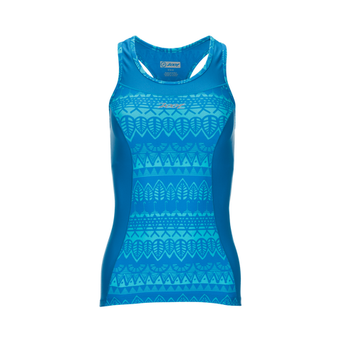 Zoot Women's Performance Tri Racerback Top - Pacific Grafitti