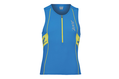 Zoot Mens Performance Tri Tank - Blue and Sub Atomic Yellow