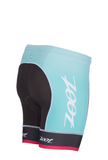 "Zoot Women's Tri Team 6"" Short - Aquamarine and Passion Fruit (XL only)"