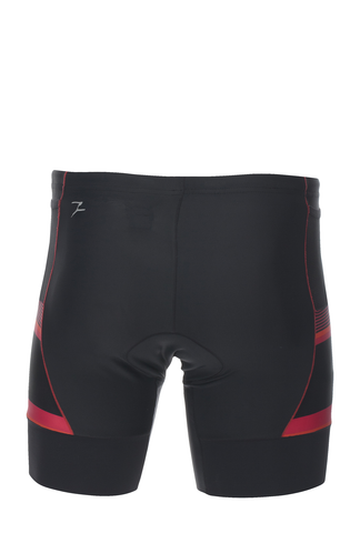 "Zoot Mens Performance Tri 7"" Short - Black & Race Day Red"