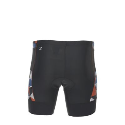 "Zoot Mens Performance Tri 7"" Short - Black & Vivid Blue Camo (XL Only)"