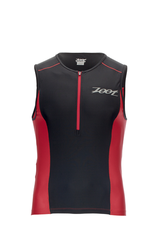 Zoot Men's Active Tri Mesh Tank - Black & Red - Small, XL Only