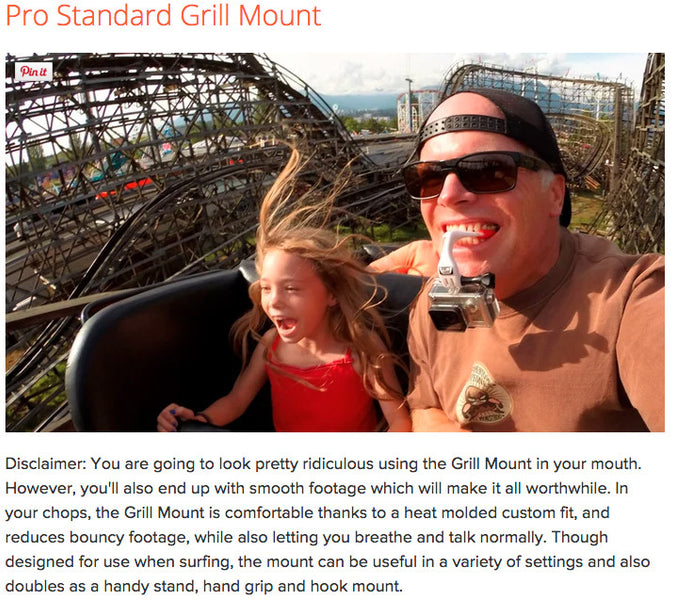 Gizmag.com names the Grill Mount one of the top 15 GoPro Mounts for 2015