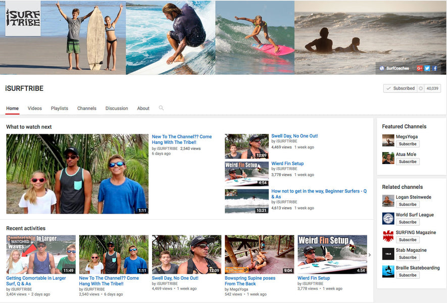 iSURF TRIBE Uses The Grill Mount For Their Instructional Surf Videos