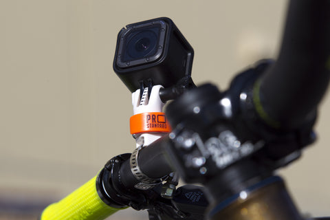 360 Quick Connect Pipe Master Mount with Cam Perfect Markings on a Mountain Bike the best new gopro accessory