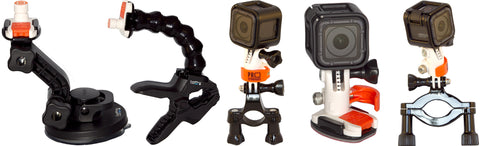Pro Standard 360 Quick Connect GoPro accessories on GoPro products