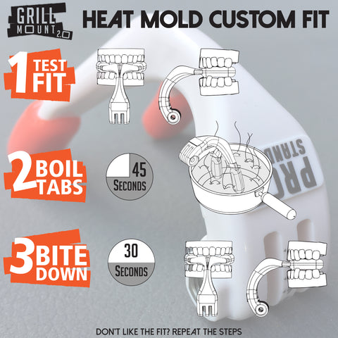 The Grill Mount GoPro Mouth Mount Custom Fit Instructions