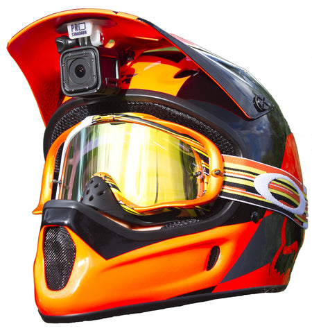 The Pro Standard Super-Visor Low Profile Under Visor GoPro Mount